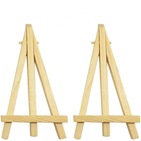 10pcs Mini Wooden Easel Triangle Table Display Artist Stand Name Card Holder vt