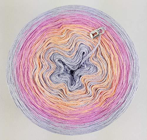LiLu´s Farbverlaufsgarn Atemlos 200g - 1000m - 3 Fädig Bobbel Strickwolle Häkeln 100g = 6,90€