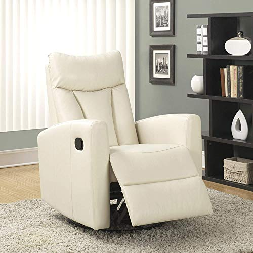 Monarch Specialties (white) Recliner chair, 30' L x 30' W x...