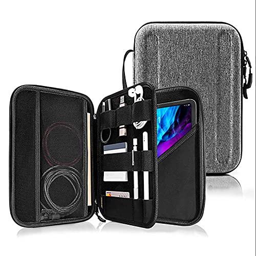 TENGFA Caja de Cartera de Estuches de Transporte de tabletas para Pro 11 '' con Accesorios Compartimiento de Almacenamiento,Gris