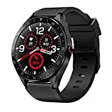 Montre Connectée Smartwatch Homme Femme 1,3' Écran Tactile IP68 Etanche Montre Sport Intelligente Fitness Tracker avec Cardiofréquencemètre Moniteur de Sommeil Podomètre Calories pour Android iOS