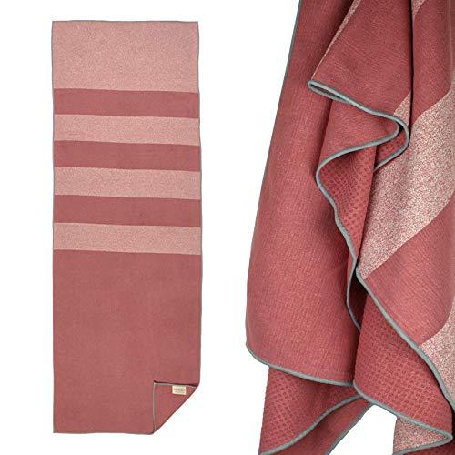 Yogabum Coastal Collection Grip Dot Yoga Towel (Coral Flecked)
