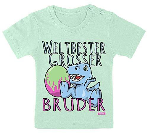 Hariz - Camiseta para bebé, diseño con texto en alemán  El mejor hermano del mundo , incluye tarjeta de pasta de dientes verde, 3-9 meses, 60-69 cm