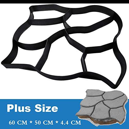 YLEI Plastikformen, Garten Schablone, Betonform zum selber gießen von Gehwegen/Trittsteinen, mit 7 Kammer, Solide und Stabil (60 * 50 * 4.4 cm)