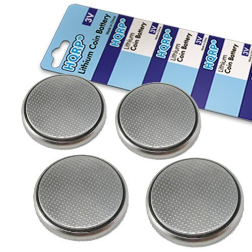 HQRP 4-Pack CR2032 CR2O32 Coin Lithium Battery Compatible with IHome IP21 Alarm Clock