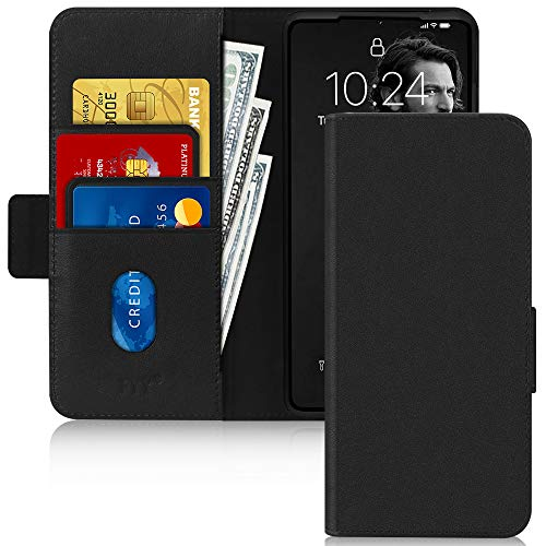 FYY Galaxy S20 Ultra 5G Hülle (2020),für Samsung Galaxy S20 Ultra Handyhülle[Rindsleder Echtem Leder] Flip Brieftasche Hülle[Ständer-Funktion]mit Kartensteckplätze für Samsung S20 Ultra Hülle-Schwarz