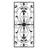 gb Home Collection Metal Wall Decor, Decorative Victorian Style Hanging Art, Steel Decor, Rectangular Design, 19.7 x 44 Inches, Espresso Brown