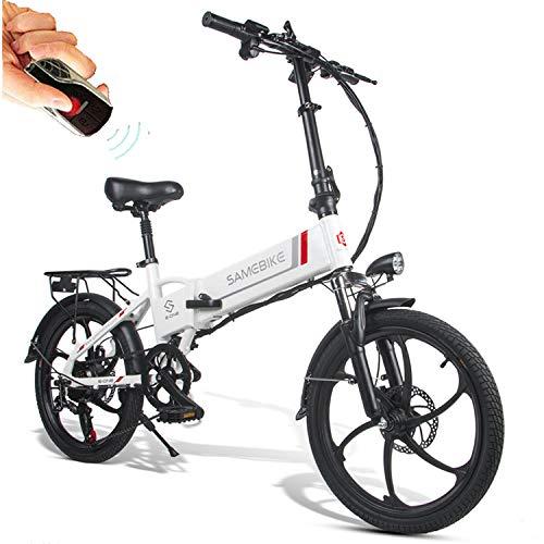 Bicicletas Eléctricas Plegable de Montaña/Ciudad/Trekking 350W 20 Pulgadas Control Remoto Batería 48V...