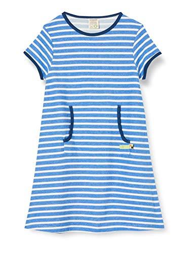 Loud + Proud Striped Dress Organic Cotton Robe, Bleu (Cobalt COB), 86/92 Bébé Fille