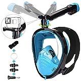 LEMEGO Maschera Snorkeling Maschera Subacquea con Visuale Panoramica 180° Design Pieno Facciale...