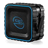deleyCON SOUNDSTERS - Rocktank Mini BT - Mini Bluetooth Lautsprecher Box Kabellos Wasserdicht - Für Handy & Co - Outdoor - Regen geschützt - Schwarz