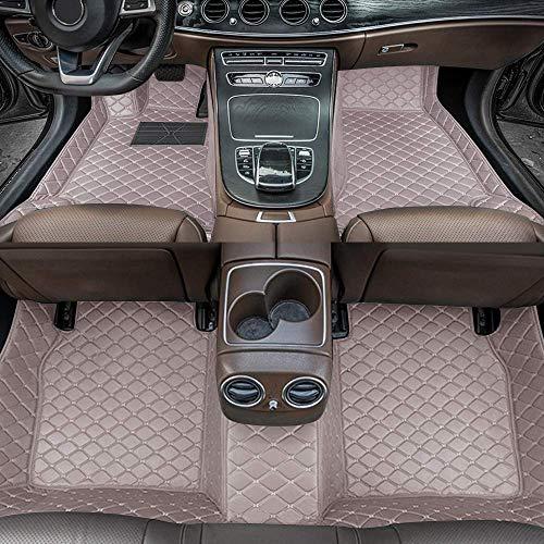 Alfombrillas de Coche para Peugeot 508 2004-2010 Antideslizantes Impermeable Rodeado Completo Protección para Todo Clima Revestimientos De Alfombra De Cuero Alfombrilla (Gris)