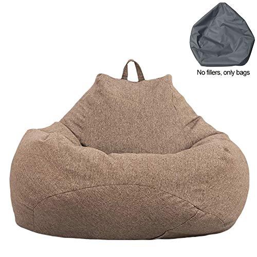 Copertura per Poltrona a Sacco Grande, Copertura con Cerniera Maniglia per Poltrona a Sacco Copri Bag Potatile in Tessuto Morbido Lavabile