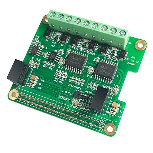 RS485 CAN HAT for Raspberry Pi Via SPI Onboard 1 x CAN Bus MCP2515 Transceiver 2 x RS485 Bus SC16IS1752, Signal and Power Isolated, ESD Protection Port, Stable Long-Distance Communication Module