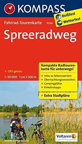 Fahrrad-Tourenkarte Spreeradweg: Fahrrad-Tourenkarte. GPS-genau. 1:50000. (KOMPASS-Fahrrad-Tourenkarten, Band 7024)