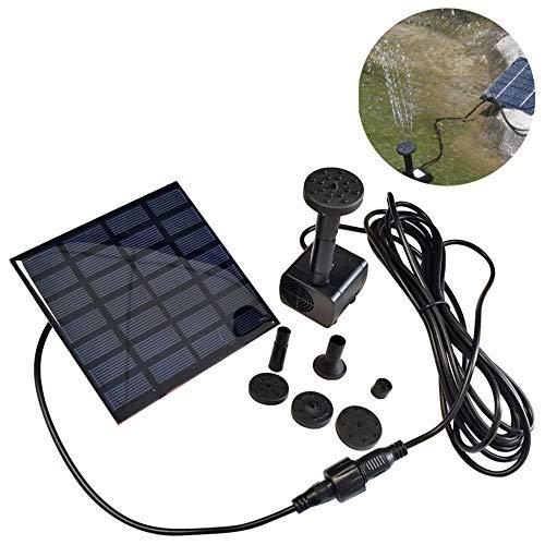 HENGMEI Solarpumpe Solar Teichpumpe Wasserpumpe Springbrunnen Teichfontäne für Gartenteich, Fisch-Behälter (1.2W, Platz)
