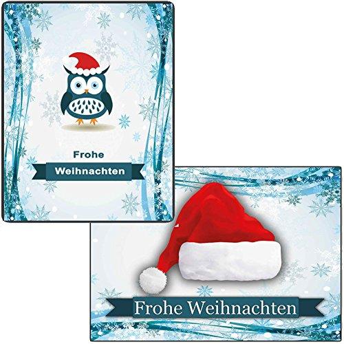 Set di biglietti di auguri Biglietti di Natale 30pezzi Natale Cartolina di Natale insieme divertente rustkal (10pezzi) Comics Cartoline di Natale spiritoso alce Babbo Natale abete albero 10ST Je Motivo gufo per bambini