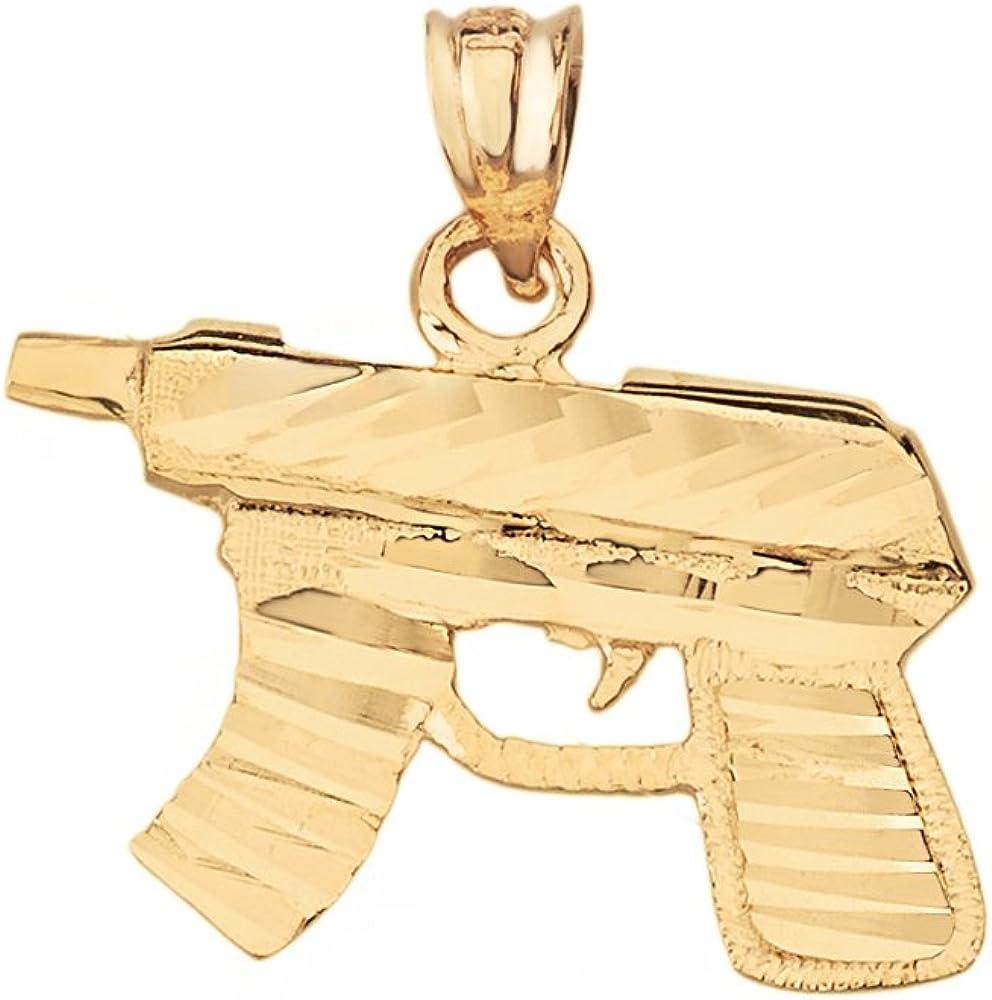 Sub Machine Gun SMG Rifle Charm Pendant