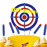 13 Pieces Happy Birthday Cupcake Toppers Target Cake Toppers War Cake Decorations for Kids Birthday Party Supplies