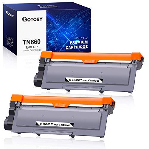 GOTOBY Compatible Toner Cartridge Replacement for Brother TN660 TN630 TN-660 TN-630 Work with HL-L2380DW HL-L2320D HL-L2300D HL-L2340DW MFC-L2700DW MFC-L2740DW Printer DCP-L2540DW (Black, 2 Pack)