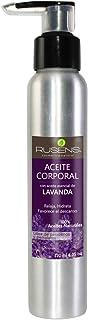 Rusens - Aceite Corporal para Masaje Relajante con Aceite Esencial de Lavanda 100% natural. Relaja y ayuda a conciliar el sueño.