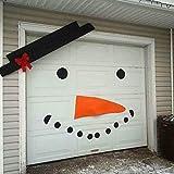 QuTess Christmas Decoration Kit Festive Holiday DIY Christmas Snowman Expression Decoration DIY Decoration Garage Door Old Man Elk Bow Hat