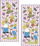 丸眞 フェイスタオル 2枚セット The Simpsons ザ・シンプソンズ 34×75cm ファニーファミリー 綿100% 4935001600