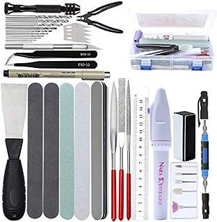 Gundam Model Kit d'outils professionnel 42 en 1 Modeler Basic Tools Craft Set de construction de passe-temps avec mallette...