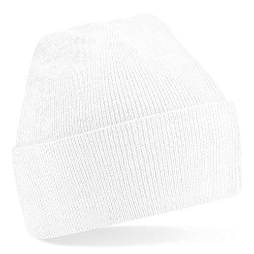 T-shirt en style Bonnet en tricot de laine, Fashion-a, Bonnet d'hiver, Taille Unisex beaucoup Couleurs - Blanc, Taille unique