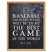 Slate Inspiring Quote The Greatest Babe Ruth Baseball Best Game Art Print Framed Poster Wall Decor 12x16 inch 見積もり すごい 野球 ポスター 壁 デコ