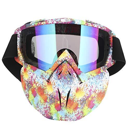 Gafas de moto Hombre Mujer Gafas de moto de nieve Esquí Snowboard Invierno Nieve A prueba de viento Máscara al aire libre Gafas de sol (Colorido)Gafas de moto Hombre Mujer Gafas de moto de nieve Esquí
