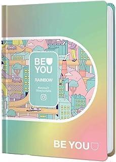 Penna Colorata Omaggio Diario Agenda Scuola Be You Rainbow 2020//2021 Datato 12 Mesi Pocket 16x12 cm