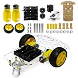 YIKESHU 2WD Smart Robot Car Chassis Kit with Speed Encoder Battery Box for Kids Teens DIY