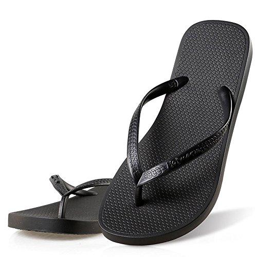 Hotmarzz Chanclas para Mujer Sandalias Playa Verano Piscina Ducha Boda Casa Flip Flops (41 EU / 42 CN, Negro)