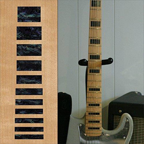Inlay Sticker Griffbrett Position Marker für Gitarren & Bass– Jazz Bass Blocks - Schwarze Perle