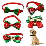 Lifreer 5 pajaritas de Navidad ajustables para mascotas y gatos y perros pequeños
