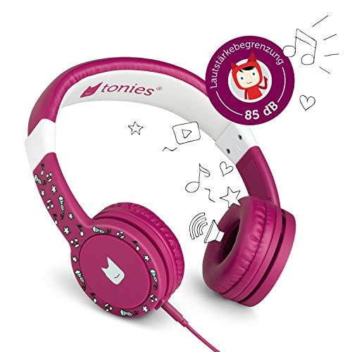 Tonie-Lauscher Beere: Kinder Kopfhörer passend zur Toniebox - Lautstärke reguliert, Abnehmbares Kabel, Größenverstellbar, Bewegliche Ohrmuscheln