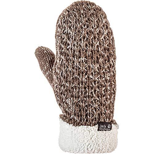 Jack Wolfskin Highloft Knit - Guanti a manopola da donna, taglia S,...