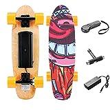 Casulo Skateboard Elettrico con Telecomando, velocità Max 20 km/h (Arancia)