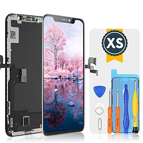 bokman OLED Pantalla para iPhone XS, Táctil OLED Reemplazo con Herramientas de Reparación