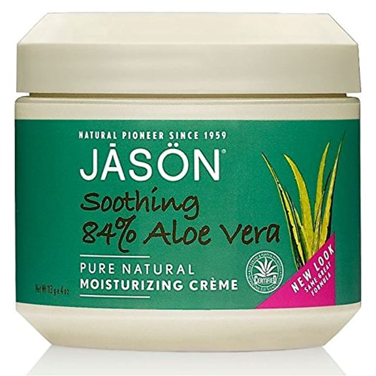 公平買い物に行く予報Jason Aloe Vera 84% Moisturising Cream 113g (Pack of 6) - ジェイソン?アロエベラ84%の保湿クリーム113グラム x6 [並行輸入品]