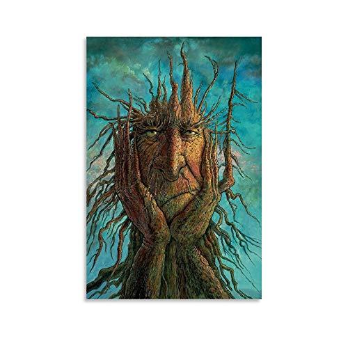 Lovecraft Cthulhu Mythos Poster Tree Monster Fairy Cuento World Novel Elfos Póster artístico y arte de pared Impresión moderna para dormitorio familiar 40 x 60 cm