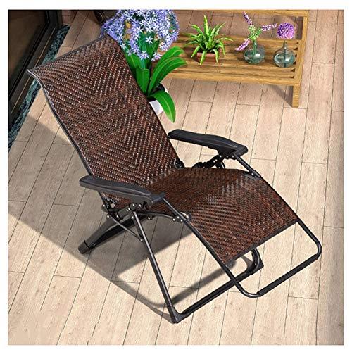 WJJ Gartenstuhl Klappstühle Deckchairs Klappstuhl Loungesessel Wicker Stuhl handgefertigt Multifunktionsliege Kann for Balkon Garten Garten Strand Sonnenbaden verwendet Werden
