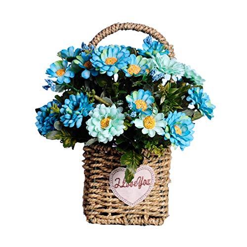 WZHFAKEFLOWER Arreglo Floral De La Flor De La Flor Falsa De La Margarita Arreglo Floral para La Mesa De Comedor Sala De Estar Decoracion De La Boda Opcional (Color : G)