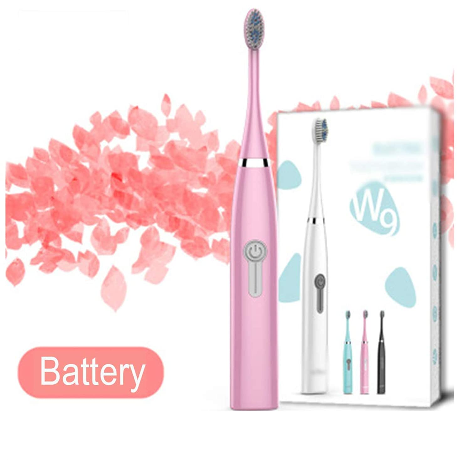 5モード電動歯ブラシソニック充電式歯ブラシで子供、大人、防水バッテリー歯ブラシで,B