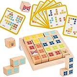 Amagogo Montessori Madera Educación Bloque de construcción Inteligencia Juego de Pensamiento Juego de Mesa Aprendizaje temprano Rompecabezas Juguete Regalos