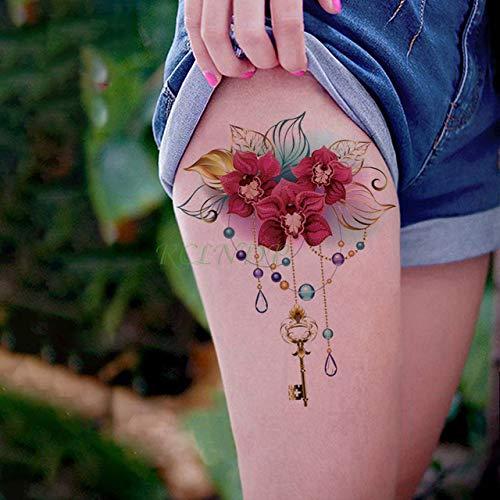 3Pcs-Etiqueta engomada del Tatuaje Impermeable Rose Bird Tattoo ...