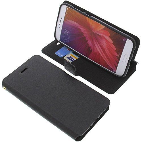 foto-kontor Tasche für Xiaomi Mi 5c Book Style schwarz Schutz Hülle Buch
