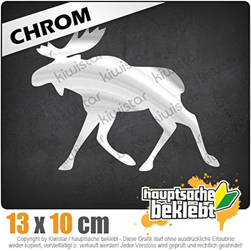 Kiwistar Elch/Schweden 13 x 10 cm IN 15 Farben - Neon + Chrom! Sticker Aufkleber