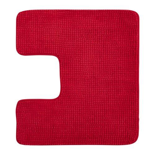 IKEA Toilettenmatte TOFTBO Flauschiger WC-Vorleger - saugstarke Mikrofaser - 55x60 cm - maschinenwaschbar - div. Farben (rot)